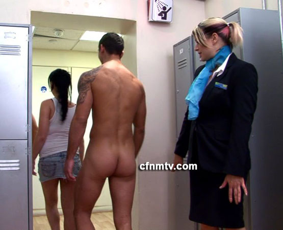 CFNM TV: Miguel Cums All Over Ashley